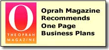 Oprah Magazine Recommends One Page Business Plans